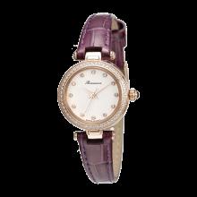 로만손 여성 가죽 시계 (RWRLQL003265RGWH0)