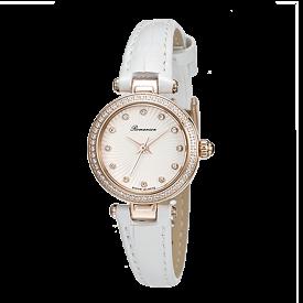 로만손 여성 가죽 시계 (RWRLQL003265RGWH1)