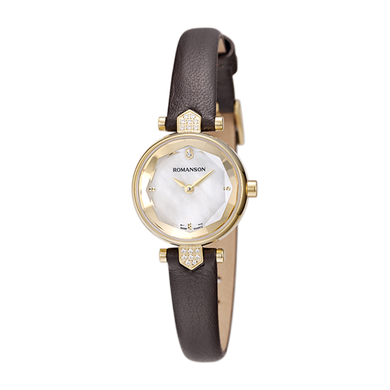 로만손 여성 가죽 시계 (RWRLQL6A0400GOWH0)