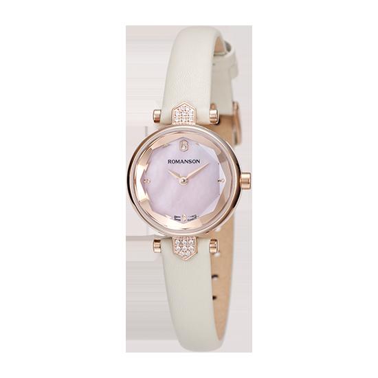 로만손 여성 가죽 시계 (RWRLQL6A0400RGPK0)