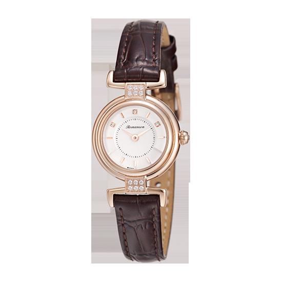 [수능시계] 로만손 여성 가죽 시계 (RWRLQL6A3300RGSI0)