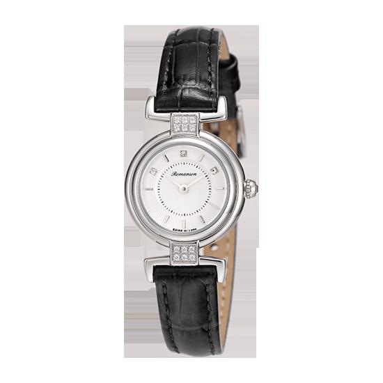 [수능시계] 로만손 여성 가죽 시계 (RWRLQL6A3300WHSI0)