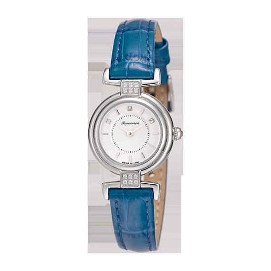 로만손 여성 가죽 시계 (RWRLQL6A3300WHSI1)