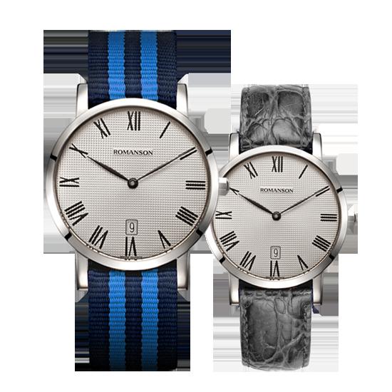 로만손 공용 나토밴드 시계 (가죽밴드 추가증정) (RWTLUU003252WHGR1)