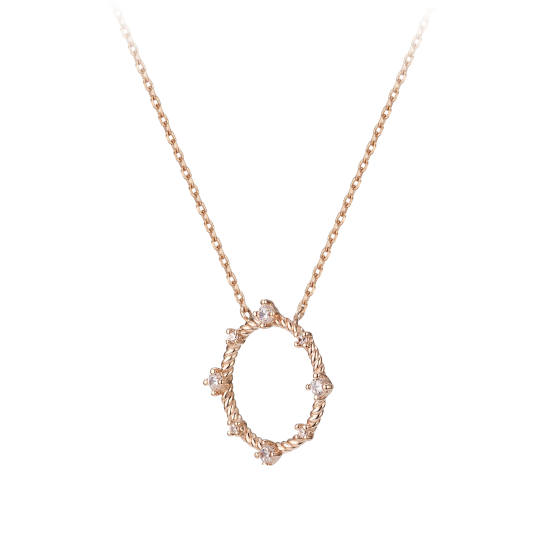 Tami Hoop Necklace (14K)