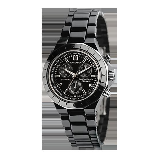 로만손 여성 세라믹 시계 (RWTMHL001231BKBK0)