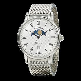 [대한시계] 로만손 남성 프리미어 문페이즈 메탈 시계 (RWPAFM001274WHSI0)