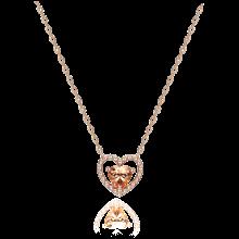[김연아 착장] Peach Heart Necklace