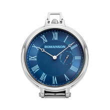 로만손 탁상용 메탈 시계