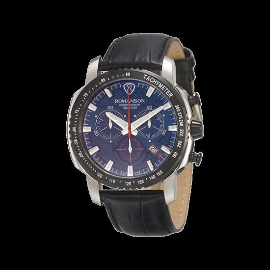 로만손 액티브 크로노그래프 남성 가죽 시계 (RWALPM7A3202CDBL0)