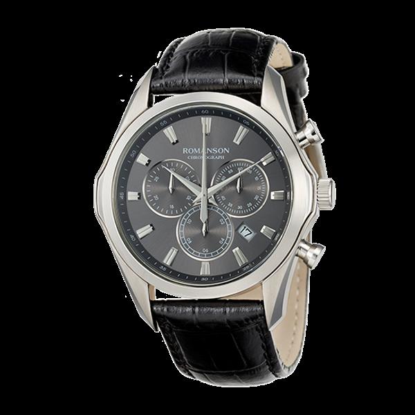 로만손 남성 크로노그래프 가죽 시계 (RWTLHM6A3500WHGR0)
