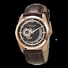 로만손 남성 오토매틱 가죽 시계