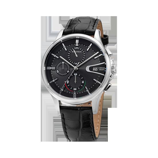 로만손 드아르본 크로노그래프 남성 가죽 시계 (RWCBHM9A0800WHBK0)