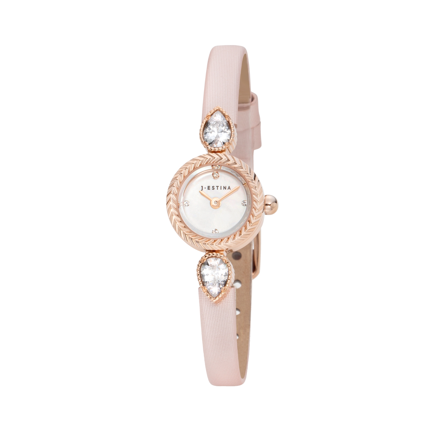 U Jewel Leather Watch