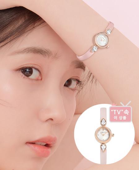 [아이유착장] U Jewel Leather 시계 (JWT1LE9AF822RGPK0)