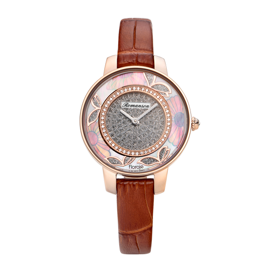 로만손 여성 가죽 시계 (RWRLLL9A0300RGSI0)