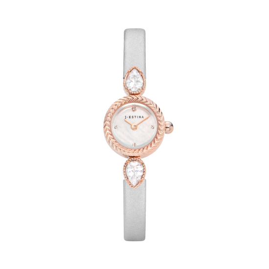 U Jewel Leather Watch