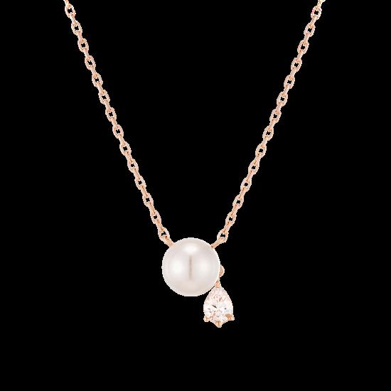★콘테 런칭! 구매시 버튼거울 증정★ Pear Pearl Necklace(14K)