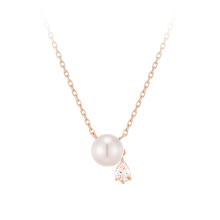 [CONTE] Pear Pearl Necklace(14K) (JJCENI0BS907R4420)