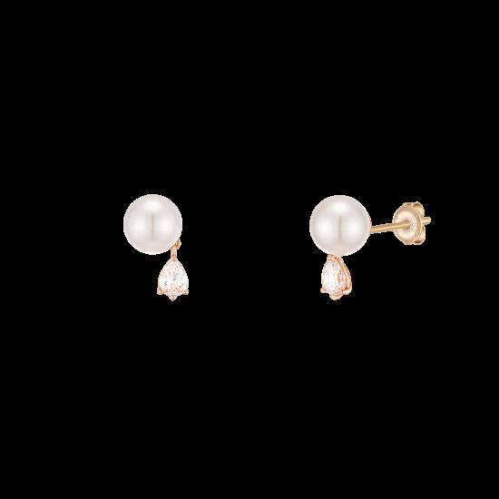 ★콘테 런칭! 구매시 버튼거울 증정★ Pear Pearl Earring(14K)