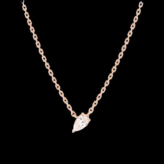 ★콘테 런칭! 구매시 버튼거울 증정★ Pear Dew Necklace(14K)