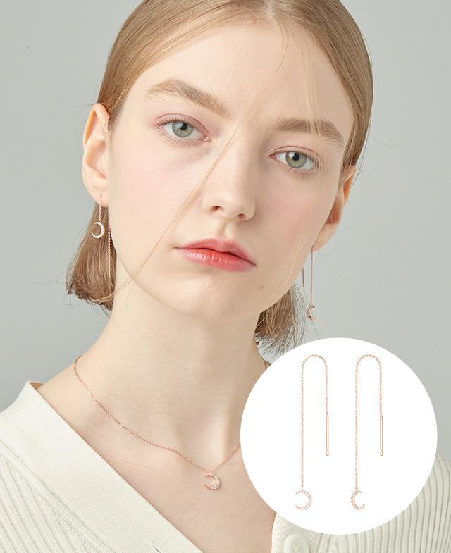 [CONTE] Basic Moon 귀걸이 (JJCEEQ0BS926SR000)