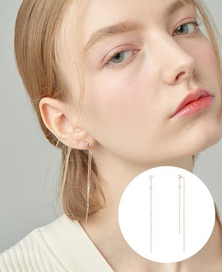 [CONTE] Basic Star Drop 귀걸이 (JJCEEQ0BS930SR000)