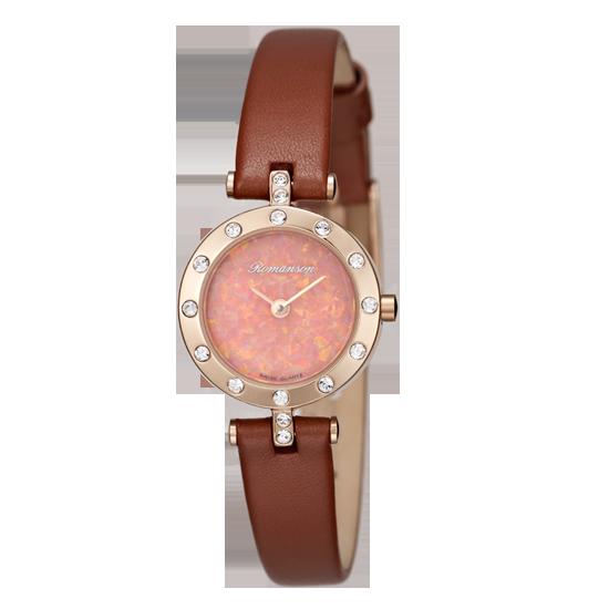 [라스트피스] 로만손 여성 가죽 시계 (RWRLQL6A1100RGPK0)
