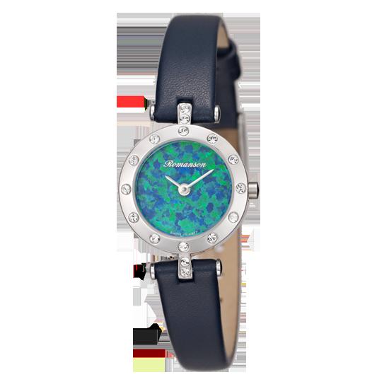 [라스트피스] 로만손 여성 가죽 시계 (RWRLQL6A1100WHBL0)