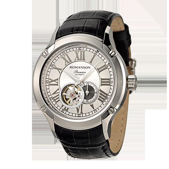 로만손 프리미어 남성 오토매틱 가죽 시계
