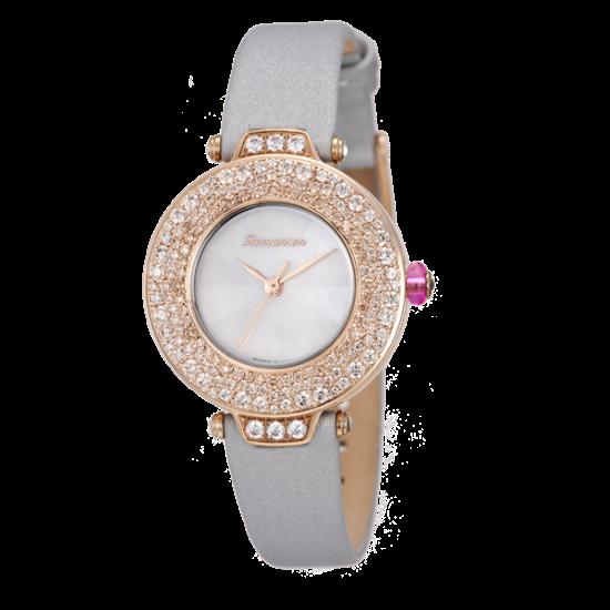 로만손 여성 가죽 시계 (RWRLQL6A1700RGWH1)