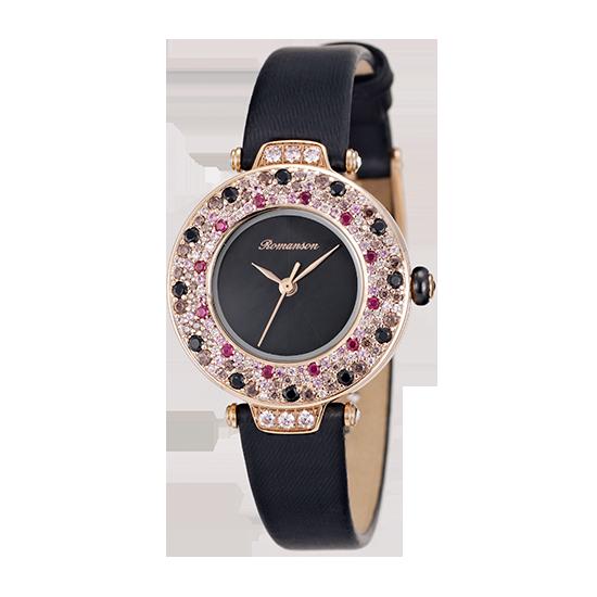 [라스트피스] 로만손 여성 가죽 시계 (RWRLQL6A1700RGBK0)