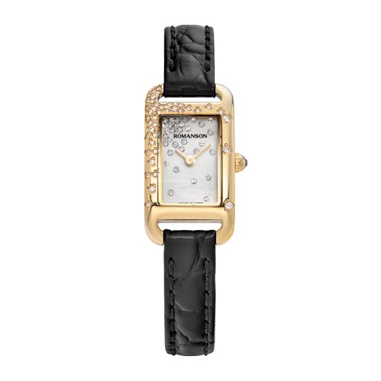 [로만손] 여성 가죽 시계 RWRLQL9A0900GOSI0