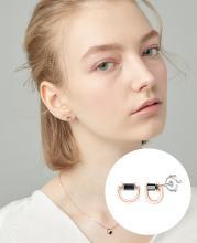 [패밀리세일] [시즌오프] [CONTE] Modern Baguette 귀걸이 (JJCEEQ0BS948SR000)
