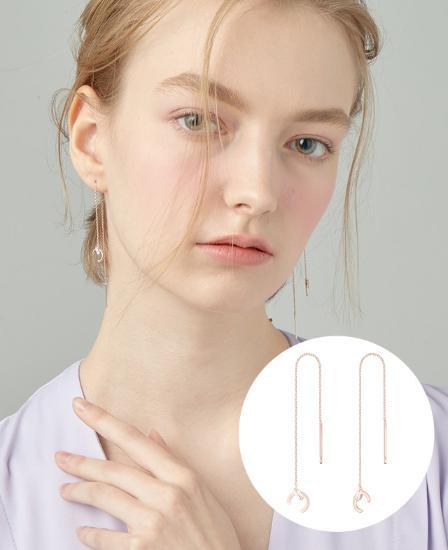 [CONTE] Modern Baguette Drop 귀걸이 (JJCEEQ0BS946SR000)