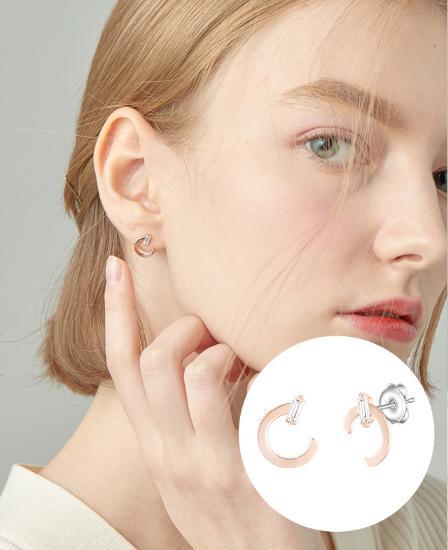 [CONTE] Modern Baguette 귀걸이 (JJCEEQ0BS945SR000)