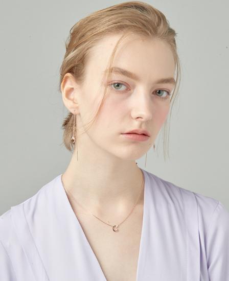 [CONTE] Modern Baguette Necklace (JJCENQ0BS945SR420)
