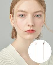 [패밀리세일] [시즌오프] [CONTE] Basic Spinel Drop 귀걸이 (JJCEEQ0BS937SR000)