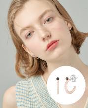 [시즌오프] [CONTE] Basic Pearl Hoop 귀걸이 (JJCEEQ0BS951SR000)