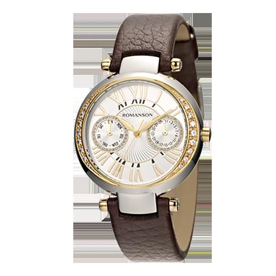 로만손 여성 가죽 시계 (RWRLQL002612CESI0)