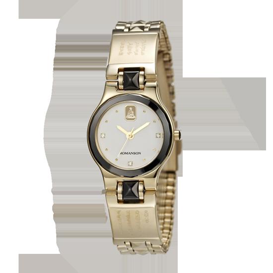 로만손 여성 불교 메탈 시계