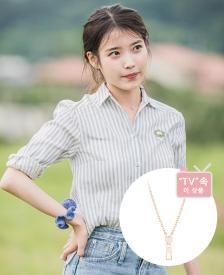 [시즌오프] [TV 속 이 상품] 아이유 지퍼목걸이 - Due J 목걸이 (14K) (JJDUN00BS505R4420)