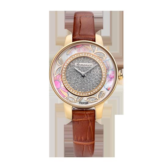 로만손 여성 가죽 시계 (RWRLLL9A0300GOSI0)