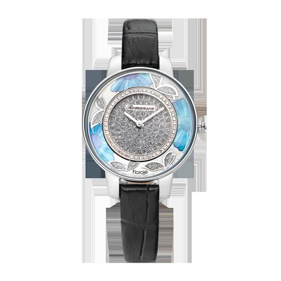 로만손 여성 가죽 시계 (RWRLLL9A0300WHSI0)
