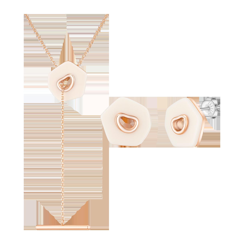 [MD's PICK] Dewore 귀걸이+목걸이 세트 (SET-J0-2A-1074)