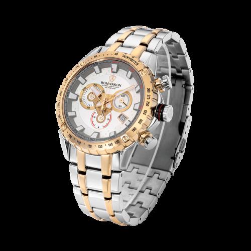 로만손 남성 메탈 시계 (RWAMHM001210CESI0)