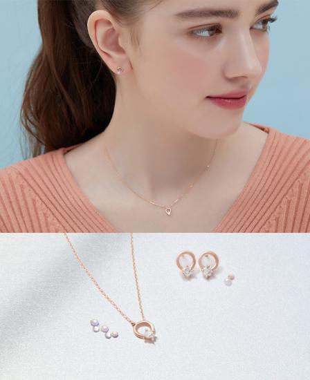 Shiny 귀걸이+목걸이 세트 (SET-J0-1078)