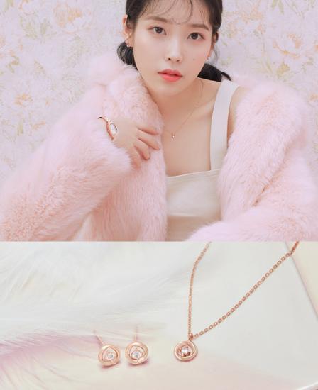 [아이유착용] Sunny 귀걸이+목걸이 세트 (SET-J0-1079)