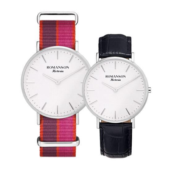 [로만손] 남녀 공용 나토밴드 시계 (RWTLUU6A3000WHSI1)