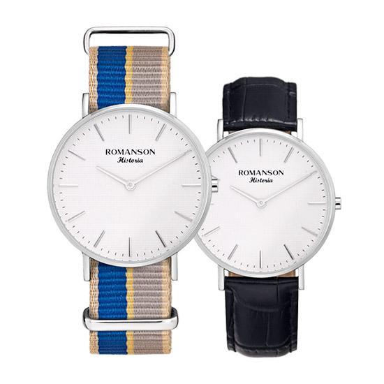 [로만손] 남녀공용 나토밴드 시계 (RWTLUU6A3000WHSI0)